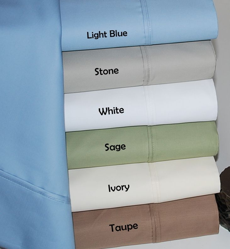 HC 600 Thread Count Cotton Rich Solid Sheet Set at Sears.com