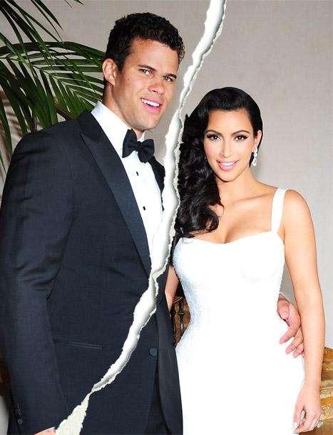 Kim Kardashian with her former husband Kris Hemphries